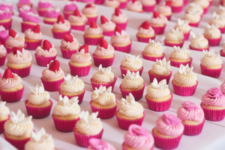 Bite Size Wedding Cupcakes