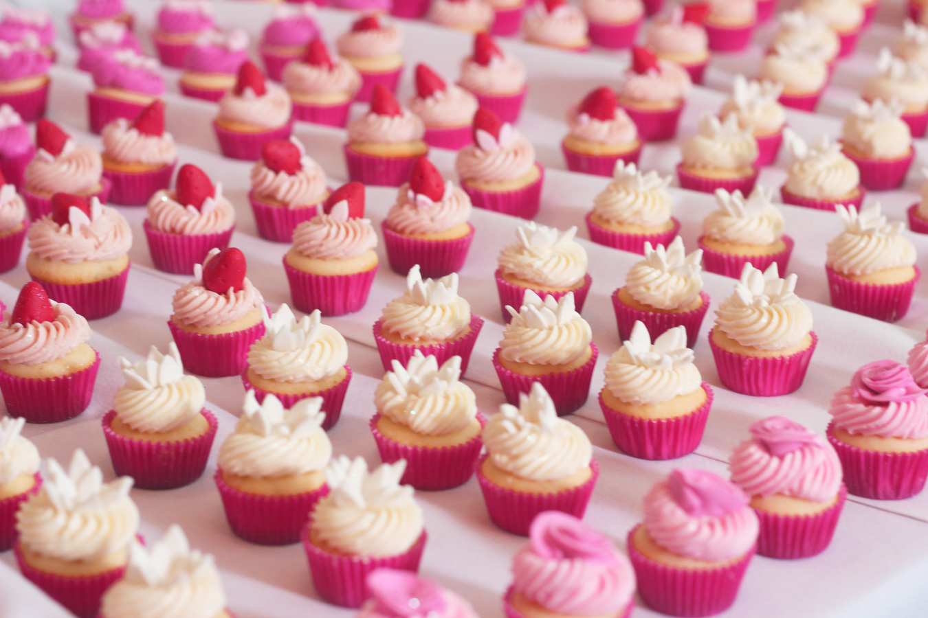 Bite Size Cupcakes for Weddings – 0.75p per piece – Bespoke Cakes ...