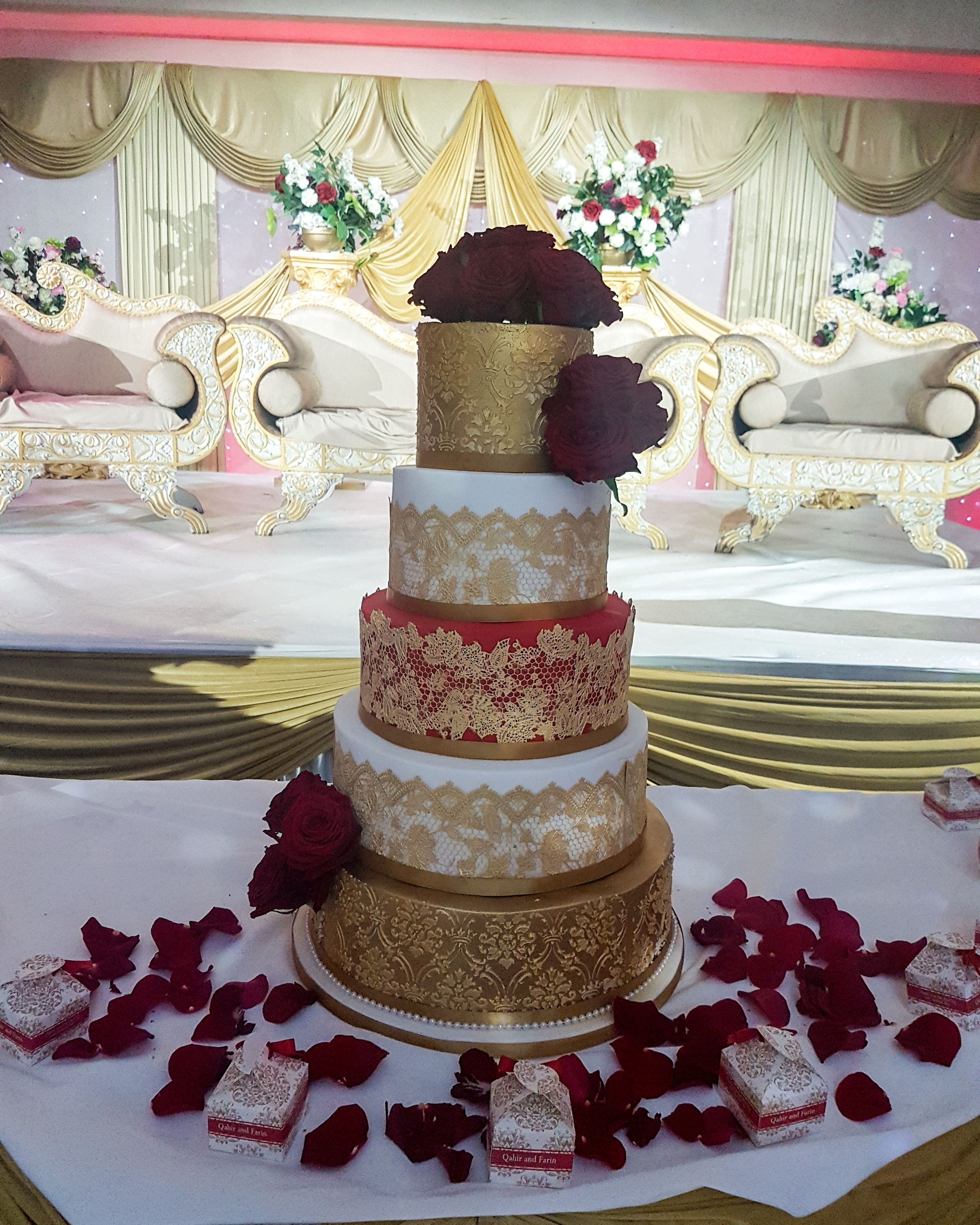 Bollywood Red Gold 550 Bespoke Cakes And Treats