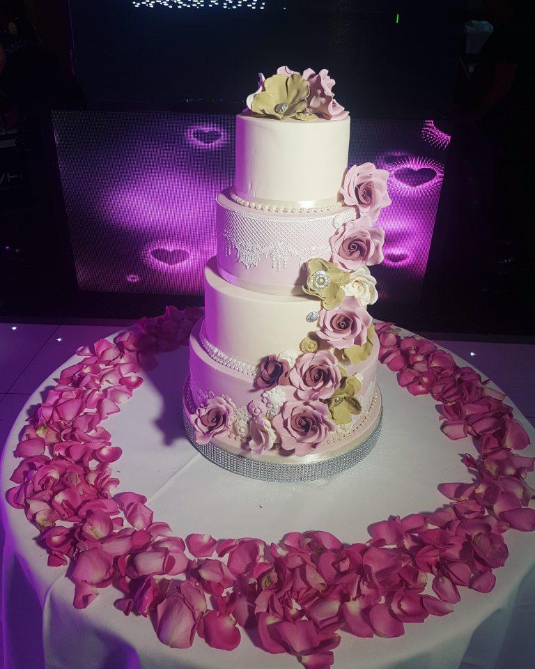 Khaki pink sugar flowers 365 bespoke cakes and treats khaki pink sugar flowers 365 mightylinksfo