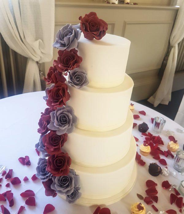 Grey Burgundy Beauty 350 Bespoke Cakes And Treats